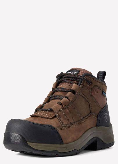 Ariat Ladies Telluride Composite Toe Work Boots - Distressed Brown