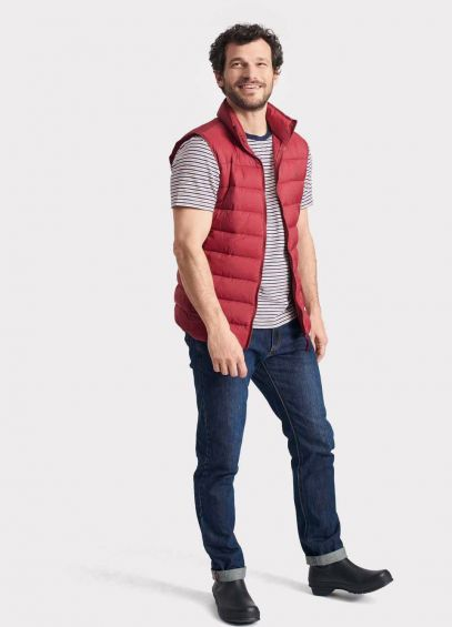 Joules Mens Go To Gilet - Rhubarb