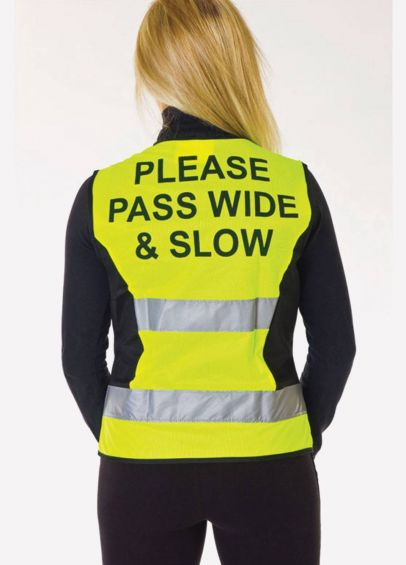 HyVIZ Waistcoat - Please Pass Wide & Slow - Yellow