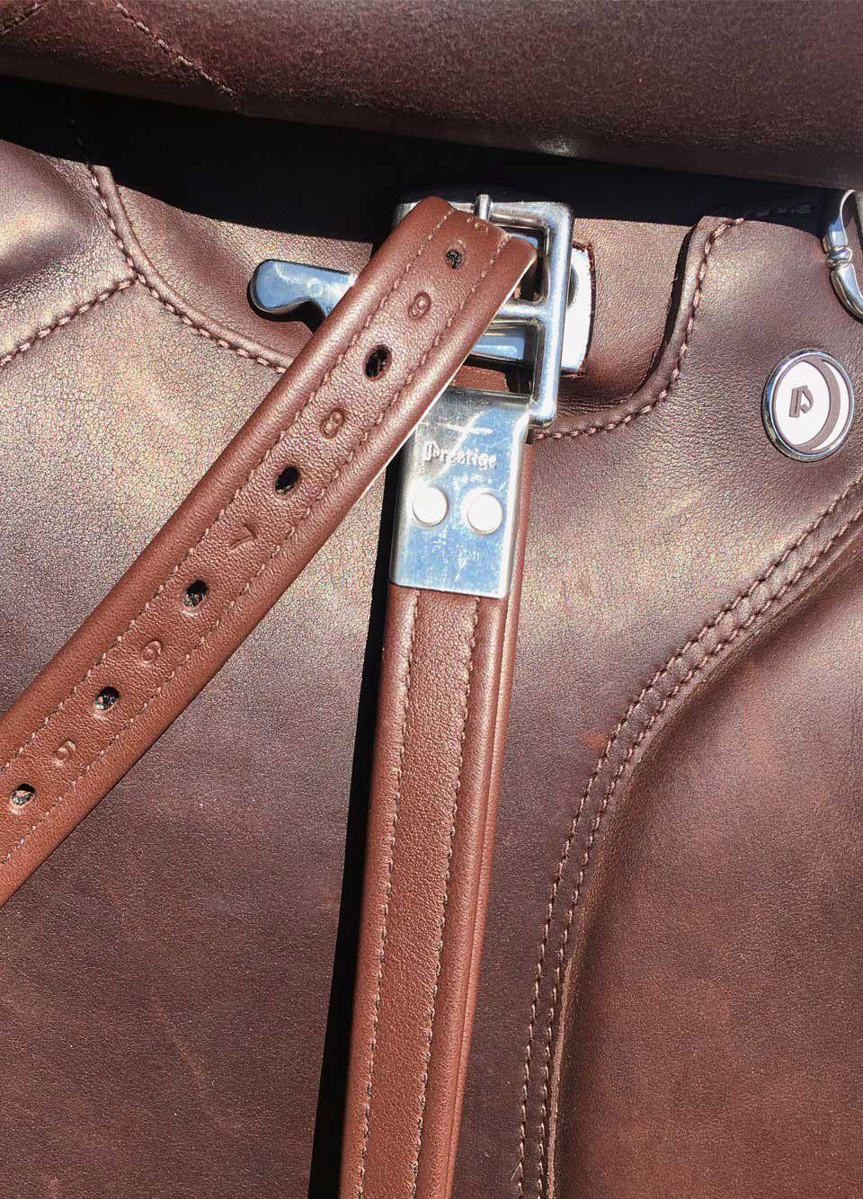 Prestige Lined Stirrup Leathers Tobacco 48//120cm